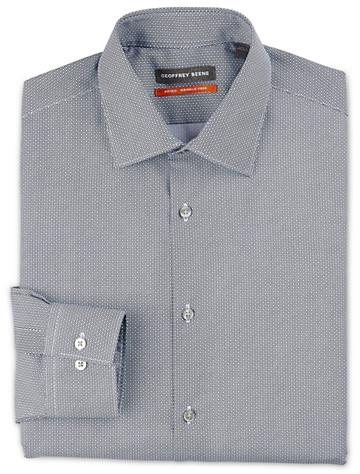 Geoffrey Beene® Small Geo-Print Dress Shirt ( Mix & Match Geoffrey Beene, Gold Series & Synrgy Dress Shirts )