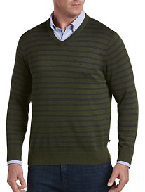 Nautica Stripe V-Neck Sweater