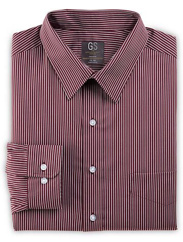 Gold Series Bengal Stripe Dress Shirt (burgundy) ( Mix & Match Geoffrey Beene, Gold Series & Synrgy Dress Shirts )