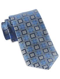 Gold Series Designed in Italy Diamond Medallion Silk Tie