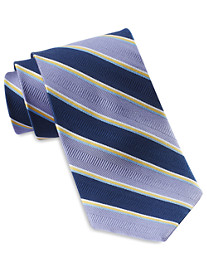 Gold Series Designed in Italy Large Multi-Stripe Silk Tie