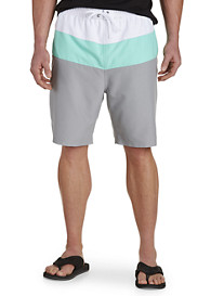 True Nation® Bold Colorblocked Swim Trunks
