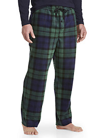 Harbor Bay® Blackwatch Plaid Fleece Lounge Pants