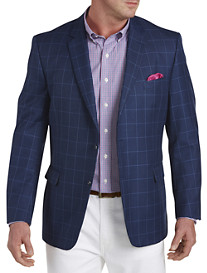 Jean-Paul Germain Windowpane Sport Coat--Executive Cut