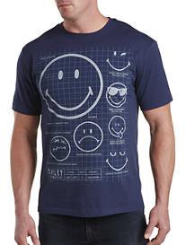 Smiley Schematics Graphic Tee
