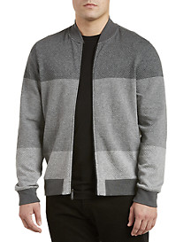 Perry Ellis® Full-Zip Jacquard Bomber