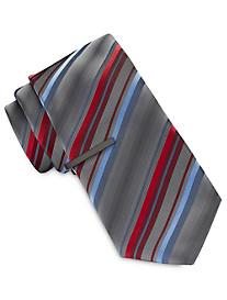 Gold Series Multi Stripe Tie With Tie Bar