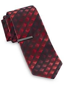 Gold Series Tonal Geo Grid Tie With Tie Bar