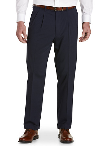 Gold Series Perfect Fit Waist-Relaxer® Hemmed Pleated Suit Pants