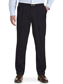Gold Series Perfect Fit Waist-Relaxer Pleated Suit Pants