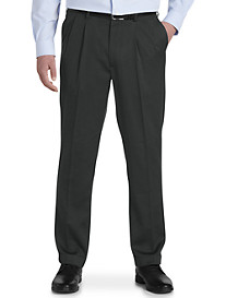 Gold Series Perfect Fit Waist-Relaxer Pleated Suit Pants – Unhemmed