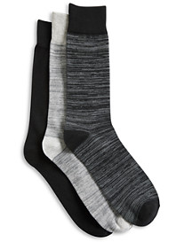 Harbor Bay® 3-pk Space-Dyed Crew Socks