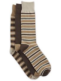 Harbor Bay® 3-pk Stripe-Pattern Crew Socks