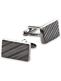 Gold Series Gunmetal Stripe Cuff Links