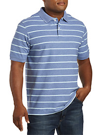 Harbor Bay® Wide Stripe Polo Shirt