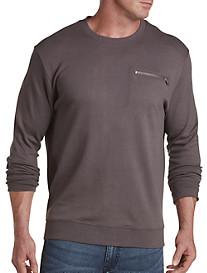 Crewneck Sweatshirt with Zipper Detail