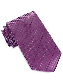 Geoffrey Beene® Aquamarine Geo Grid Tie