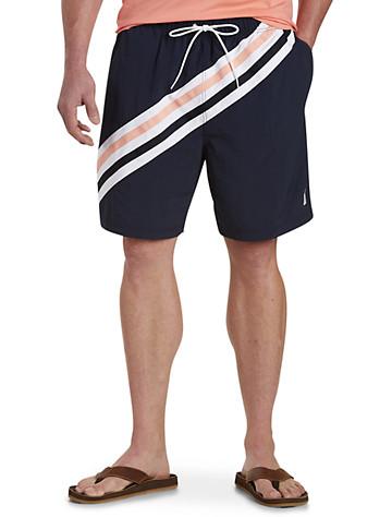 Nautica® Navy Stripe Swim Trunks