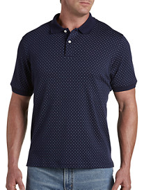 Harbor Bay® Geometric-Print Interlock Polo