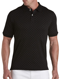 Harbor Bay® Dot-Print Interlock Polo