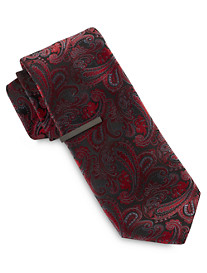 Gold Series Large Ombré Paisley Tie with Tie Bar