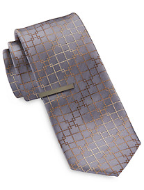 Gold Series Mini Ombré Grid Tie with Tie Bar