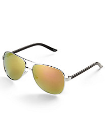 True Nation® Pink Aviator Sunglasses