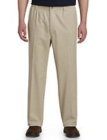 Harbor Bay® Elastic-Waist Twill Pants