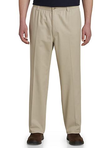 Harbor Bay® Elastic-Waist Twill Pants - $55.00