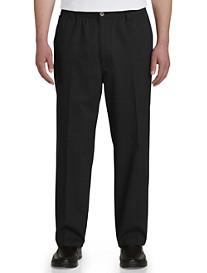 Harbor Bay® Elastic-Waist Twill Pants