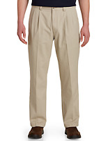 Harbor Bay® Waist-Relaxer® Pleated Twill Pants
