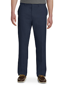 Harbor Bay® Waist-Relaxer® Flat-Front Twill Pants