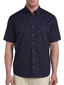 Harbor Bay® Easy-Care Anchor Print Sport Shirt