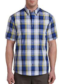 Harbor Bay Easy-Care Multi Plaid Sport Shirt