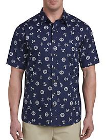 Harbor Bay Nautical Print Sport Shirt