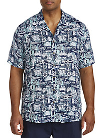 Island Passport® Nautical Print Camp Shirt