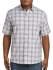 Harbor Bay® Microfiber Plaid Sport Shirt