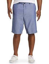 True Nation® Flat-Front Dobby Shorts