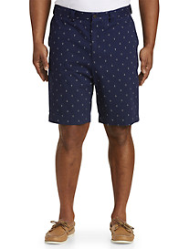 Oak Hill® Waist-Relaxer® Anchor-Print Shorts