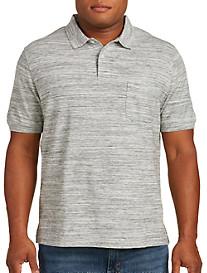 Harbor Bay Space-Dye Pocket Piqué Polo Shirt