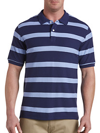 Harbor Bay Large-Stripe Rugby Polo Shirt