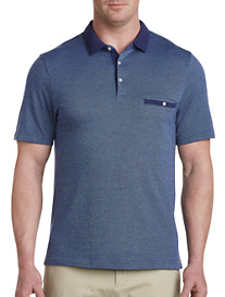 Harbor Bay Jacquard-Print Polo