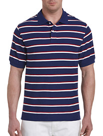 Harbor Bay Large Bi-Color Stripe Polo Shirt