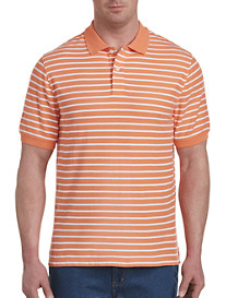 Harbor Bay® Narrow-Stripe Polo-New and Improved Fit