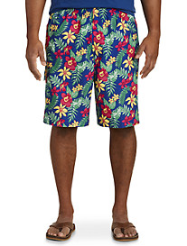 Island Passport Floral Swim Trunks
