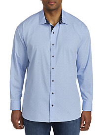 Twenty-Eight Degrees Double Dot Print Sport Shirt