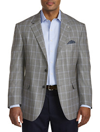 Oak Hill® Jacket-Relaxer™ Textured Windowpane Sport Coat