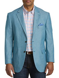 Oak Hill® Jacket-Relaxer™ Chambray Textured Sport Coat