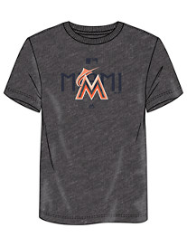 Majestic MLB Charcoal Team Tee