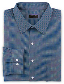 Synrgy Performance Non-Iron Square-Patterned Dress Shirt